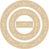 Set of circle frames Royalty Free Stock Photos