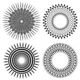 Set of Circle Geometric Ornaments Stock Photography