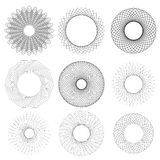Set of Circle Geometric Ornaments Royalty Free Stock Photo
