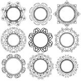 Set of Circle Geometric Ornaments Royalty Free Stock Images