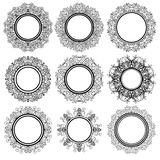 Set of Circle Geometric Ornaments Stock Image