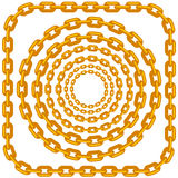 Set of Circle Gold Chain Frames  Royalty Free Stock Photo