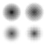 Set of circle halftone. Abstract halftone background. Vector illustration. Black circles. Set of circle halftone. Abstract halftone background royalty free illustration
