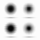 Set of circle halftone. Abstract halftone background. Vector illustration. Black circles. Set of circle halftone. Abstract halftone background stock illustration