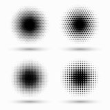 Set of circle halftone. Abstract halftone background. Vector illustration. Black circles. Set of circle halftone. Abstract halftone background vector illustration