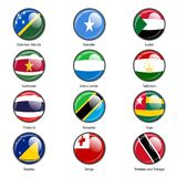 Set circle icon  Flags of world sovereign states Stock Photo