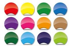 Set of circle icons Stock Photo