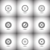 Set of circle icons Royalty Free Stock Photo