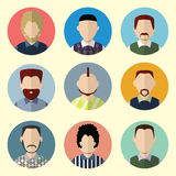 Set of Circle Icons with Man.  Set - 02 Stock Images