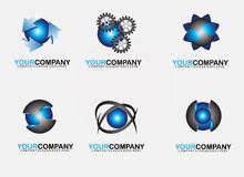 Set circle logo design Stock Photos