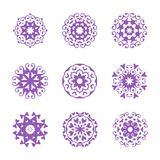 A set of Circle ornament, abstract floral. Vector illustration perfect for any design purpose stock illustration