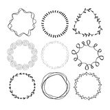 Set of Circle Scribble Frames Royalty Free Stock Image