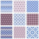 Set of circle seamless patterns Royalty Free Stock Image