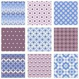 Set of circle seamless patterns Royalty Free Stock Image