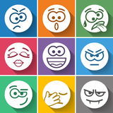 Set Circle Smiles Royalty Free Stock Image