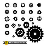 Set of circle wheel gear icon royalty free illustration