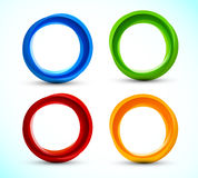 Set of circles Royalty Free Stock Photo