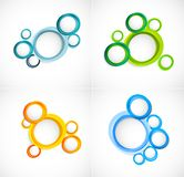 Set of circles backgrounds Stock Photography
