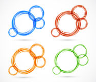 Set of circles banners Royalty Free Stock Images