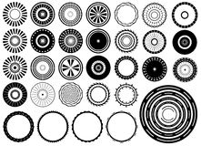 Circles design elements vector Royalty Free Stock Photos