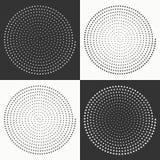 Set of circles dots. Royalty Free Stock Photography