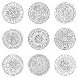 Set of circles, logo design doodle elements. Stock Images