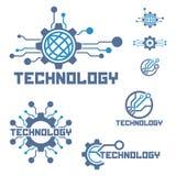 Set of circuit tech elements. Electronics icon. Tech logo Stock Images