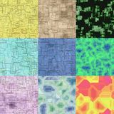 Set of circuits seamless generated textures Royalty Free Stock Images