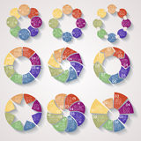 Set of circular business templates Royalty Free Stock Photography