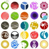 Set of 25 circular icons. A variesty of circular icons and symbols Royalty Free Stock Image