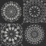 Set circular ornaments, vintage style. Set circular ornaments, classic vintage style flower, vintage retro pattern. Vector illustration Stock Photography