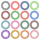 Set of circular patterns in celtic knotting style Royalty Free Stock Photography
