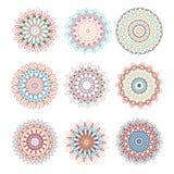 A set of circular patterns. Vector. Mandala Royalty Free Stock Images