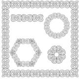Set of circular and square ornaments Stock Photo