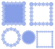 Set of circular and square ornaments Royalty Free Stock Images