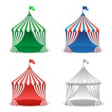 Set of circus carnival tent. Multicolored carnival holidays concept. stock illustration