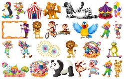 Set of circus element. Illustration royalty free illustration