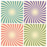 Set of circus graphic radius effects retro green, blue, purple, red color and light brown with halftone for comic background. Vector illustration vector illustration