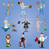 A set of circus performers Royalty Free Stock Photo
