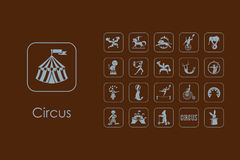 Set of circus simple icons Royalty Free Stock Photography