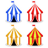 Circus tent vector. Set of circus tent in different colors isolated over white background + vector illustration Stock Photos