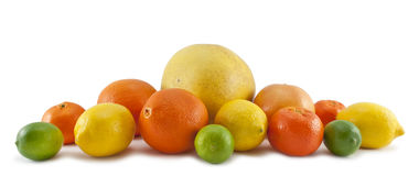Set of citrus fruit Royalty Free Stock Images