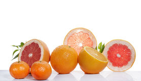 Set of citrus fruit Stock Photos