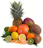 Set of citrus and tropical fruits Stock Photo
