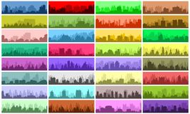 Set of city banners Royalty Free Stock Images