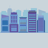 Set Of City Buildings Royalty Free Stock Images