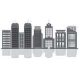 Set Of City Buildings. Vector Illustration Stock Photos