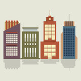 Set Of City Buildings Stock Image