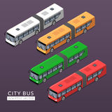 Set with city bus icons Stock Images