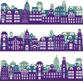 Set of city landscapes Stock Images